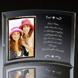 Letter to Mom Curved Glass Photo Frame
