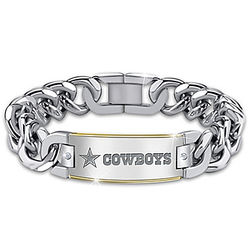 Dallas Cowboys Personalized Diamond Reversible ID Bracelet