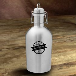 Bottle Top Personalized Stainless Steel Growler
