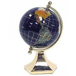 3 Inch Diameter Gem Stone Globe