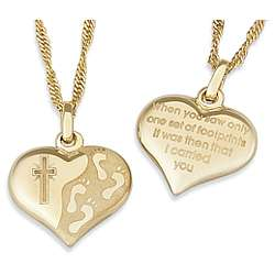 Footprints Heart Pendant
