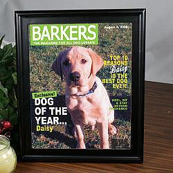 Dog Magazine Cover Frame