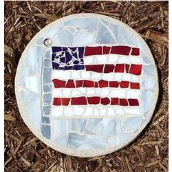 Flag Stained Glass Stepping Stone