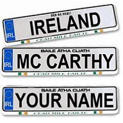 Personalized Irish Car Plate