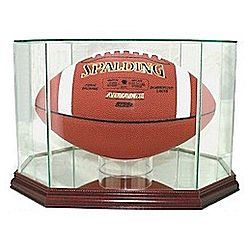 Engraved Octagon Football Display Case