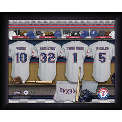 Personalized Texas Rangers MLB Locker Room Sign