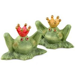Frog Prince Salt and Pepper Shaker Set