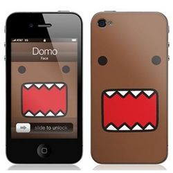 Domo Face iPhone 4 Protective Skin