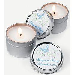 Spring Wedding Candle Tins