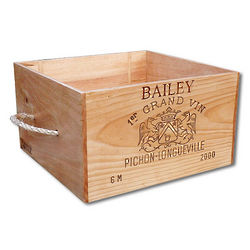 Personalized Pet Toy Box from Wine Crate