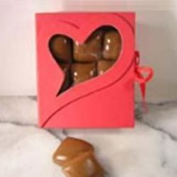 Valentine Keepsake Box of Vanilla Caramels
