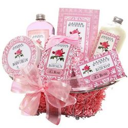 Rose Scented Relaxing Time Gift Basket