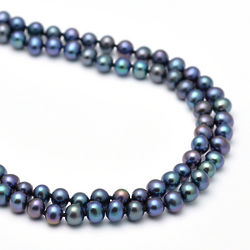 Black Cultured Pearl 30 Inch Necklace