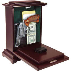 Mantel Clock with Hidden Gun Compartment