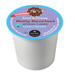 Donut Shop Sweet and Creamy Hazelnut Iced Coffee K-Cup