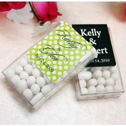 Personalized Tic Tacs Wedding Favor