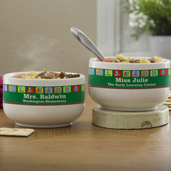 Little Learners Personalized Soup Bowls for Teachers