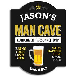 Authorized Personnel Only Man Cave Sign