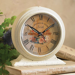Distressed Antique Floral Alarm Clock