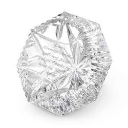 Hand-Cut Lismore Diamond Paperweight