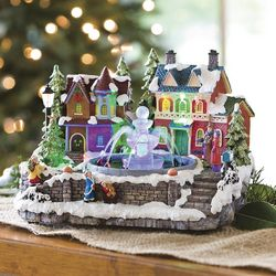 Lighted Musical Christmas Fountain Figurine