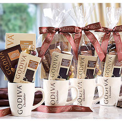 Godiva Cocoa and Truffles Gift Mug 4 Pack