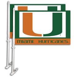 Miami Hurricanes Car Flags