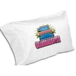 #1 Granddaughter Pillowcase