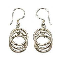 Sterling Silver 'Ring Ring' Dangle Earrings