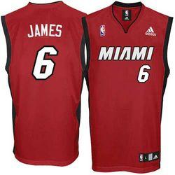 Lebron James Miami Heat Replica Jersey in Red
