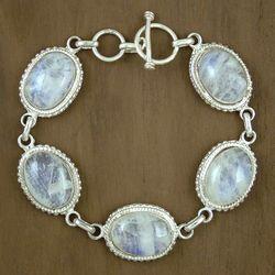 'Love Light' Moonstone Link Bracelet