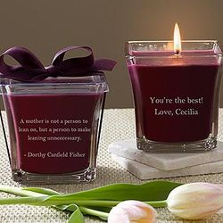 For Mom Scented Glass Candle