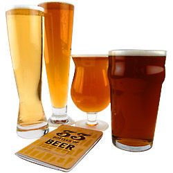 Classic Beer Glass Connoisseur Glasses and Book Set