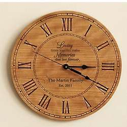 Personalized Loving Memories Wall Clock