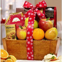 Festive Flurries Holiday Fruit Gift Basket