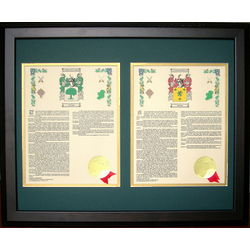 Personalized His and Her Coat of Arms Framed Print