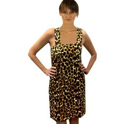 Leopard Printed Terry Velour Shower Wrap