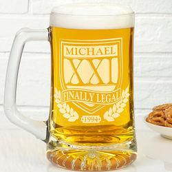 Birthday Personalized Beer Mug