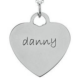 Posh Mommy Heart Pendant in Sterling Silver