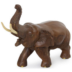 Elephant Delight Wood Sculpture