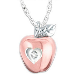 Granddaughter, You Are the Apple of My Eye Personalized Necklace
