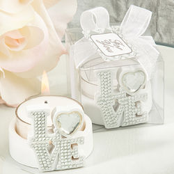 Bling Love Candle Holder Favors