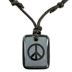 Peace and Love Jade Pendant Necklace