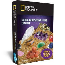 Nat Geo Mega Gemstone Mine Dig Kit