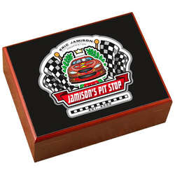 Personalized Cigar Humidor with Racing Design