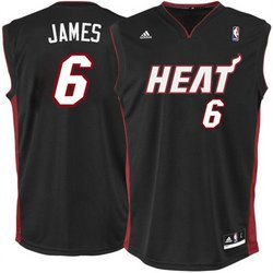 Lebron James Miami Heat New Replica Jersey in Black