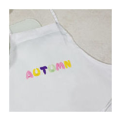 Embroidered Pastels Kids Kitchen Apron