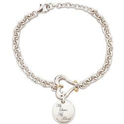 """My Sister, My Friend"" Sterling Silver Charm Bracelet"