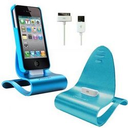 iPhone/iPod iCrado Plus Dock & Charger in Turquoise