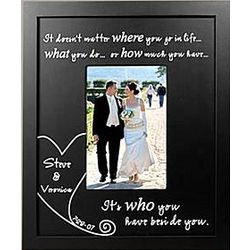 Personalized Beside You Wood Frame With Date
